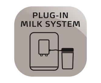 Wbudowany system spieniania mleka