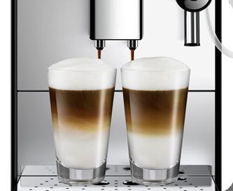 Regulowana wysokość dozownika kawy