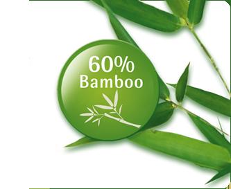 Zawiera 60% bambusa