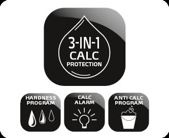 Ochrona 3-w-1 ze wskaźnikiem odkamieniania
