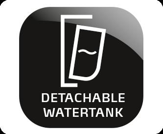 Wyjmowany pojemnik na wodę z oznaczeniem ilości filiżanek
