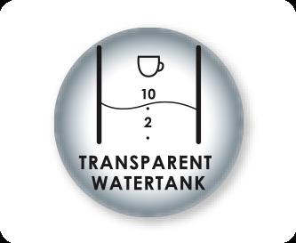 Przezroczysty zbiornik na wodę